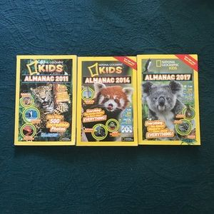 Nat Geo Kids Almanac Book Lot
